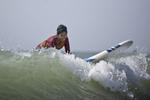 Nargis surfs