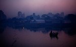 The Korail slum is seen off of Banani Lake in the Gulshan neighborhood in Dhaka, Bangladesh. Korail is one of Dhaka's largest slums.