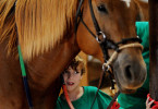 Samuel Teal, 7, nuzzles up to his therapy horse, Sophia, before his therapeutic ride with LifeSavers Ranch. Samuel was born with a diaphragmatic hernia, which caused the other organs of his abdomen to develop in his chest cavity and prevented the proper development of his lungs. Samuel has struggled with a number of developmental delays and just started walking two years ago. He has been coming to LifeSavers for therapeutic riding since March.