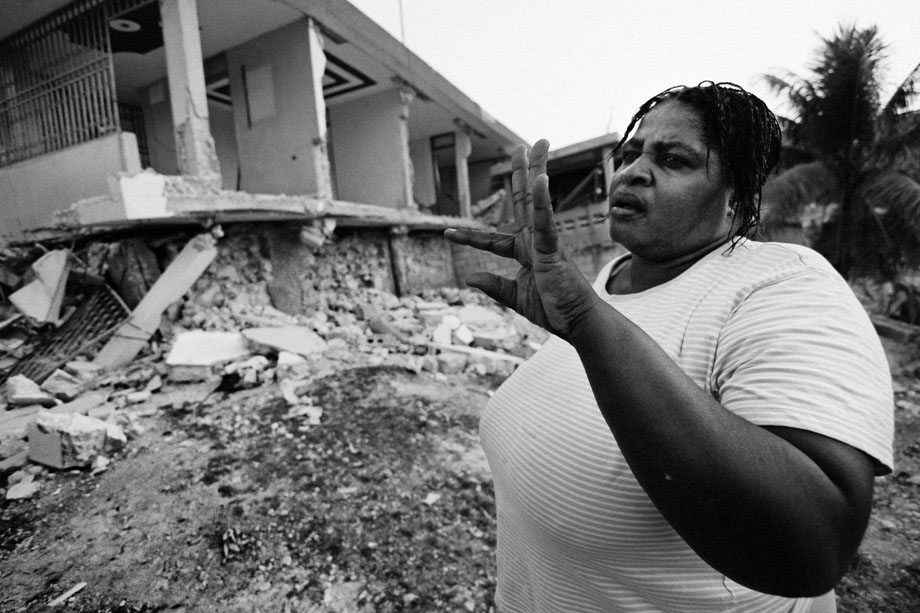 A woman, who lost three family members in the destroyed home behind her, talks about what she'll do next.
