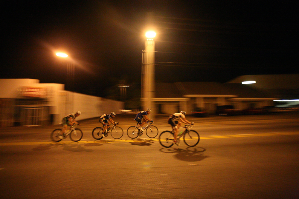 Riders participate in the final heat of the 2010 Dothan CityFest criterium race in downtown Dothan.