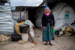 A woman from the village of Chutinamit stands for a portrait in early 2013. The village was relocated to its current location after Tropical Storm Agatha in 2010. The residents are still living in transitional housing three years later. Mission Guatemala provides familes in Chutinamit with beds, water filtration systems and medical care at their clinic.