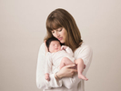 Beautiful mum and her new born baby portrait by Nemi - an award winning new born photographer.
