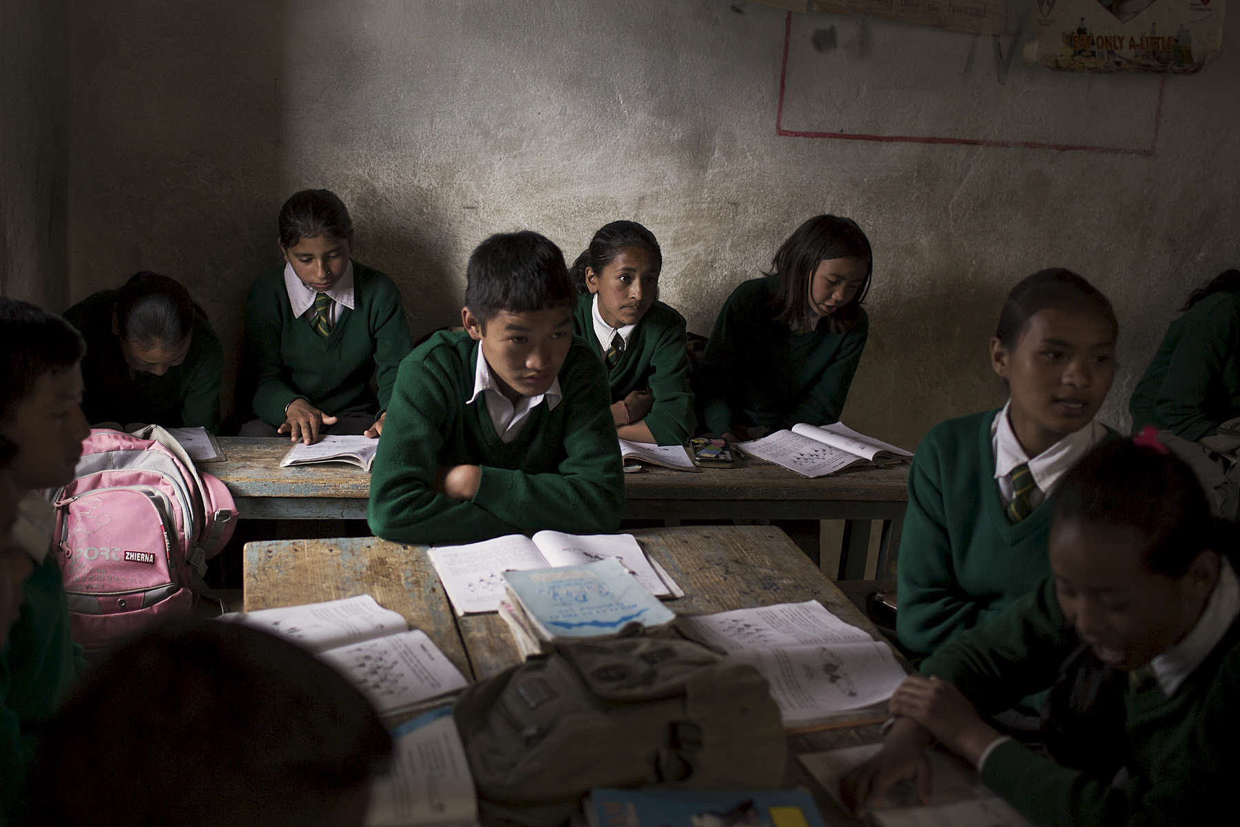 Students in class 8 at Jana Jaguti Lower Secondary School participate in an interactive activity. The Australian Himalayan Foundation through its Nepal partner REED runs teacher training programs for the teachers at the Jana Jaguti Lower Secondary School in the remote Solu Khumbu District of Nepal.