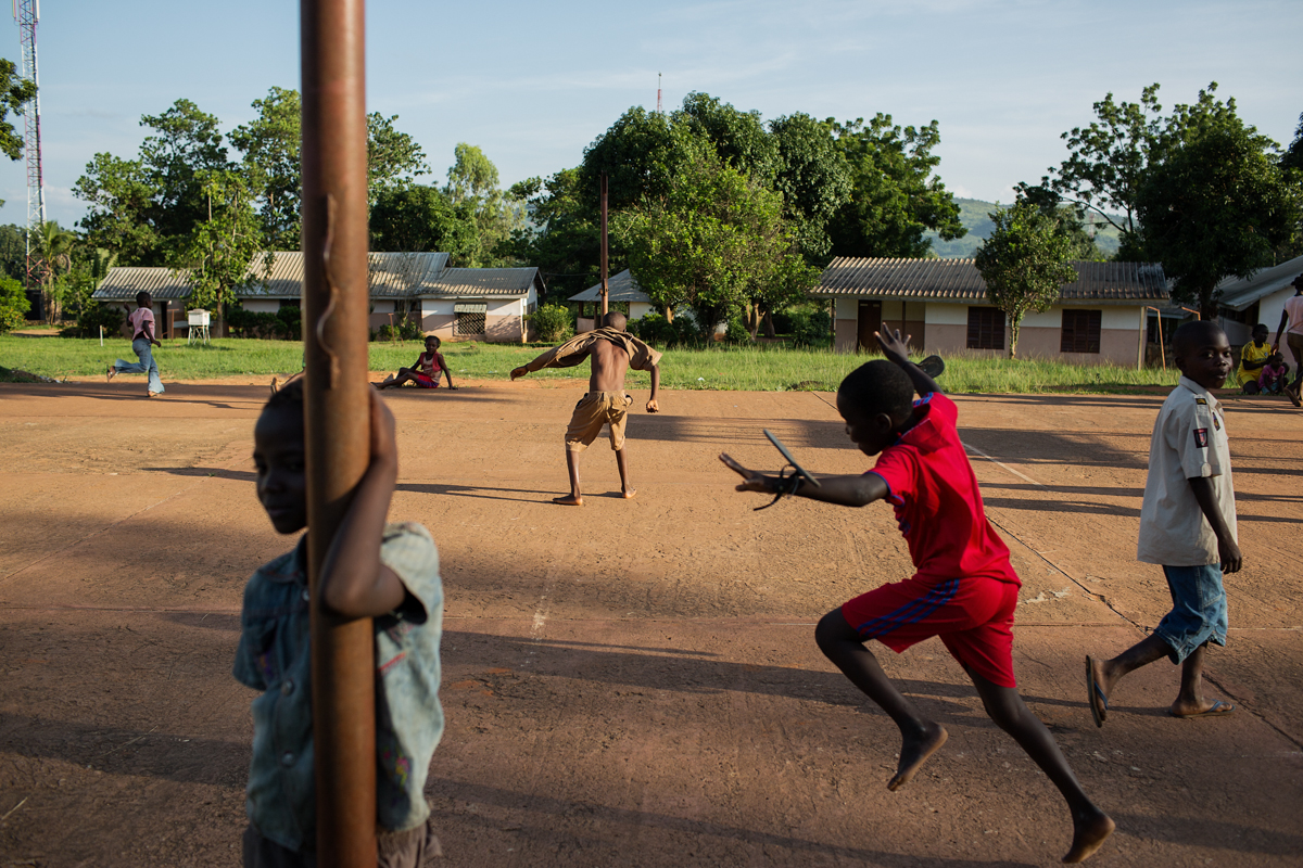Children play on the weekend inside the SOS Childrens Village compound.