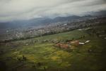 A view over a brick kiln outside Bhaktapur, Nepal.