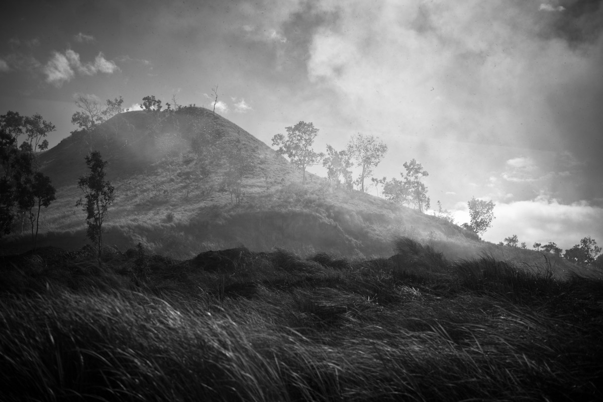 In the dry season, burning off takes place throughout many provinces of Papua New Guinea including Central Province.
