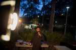 Mohamed Ehsan, a Malaysian medical student and president of the University of Newcastle Islamic Society helps to set up for the evenings prayer and iftar meal.