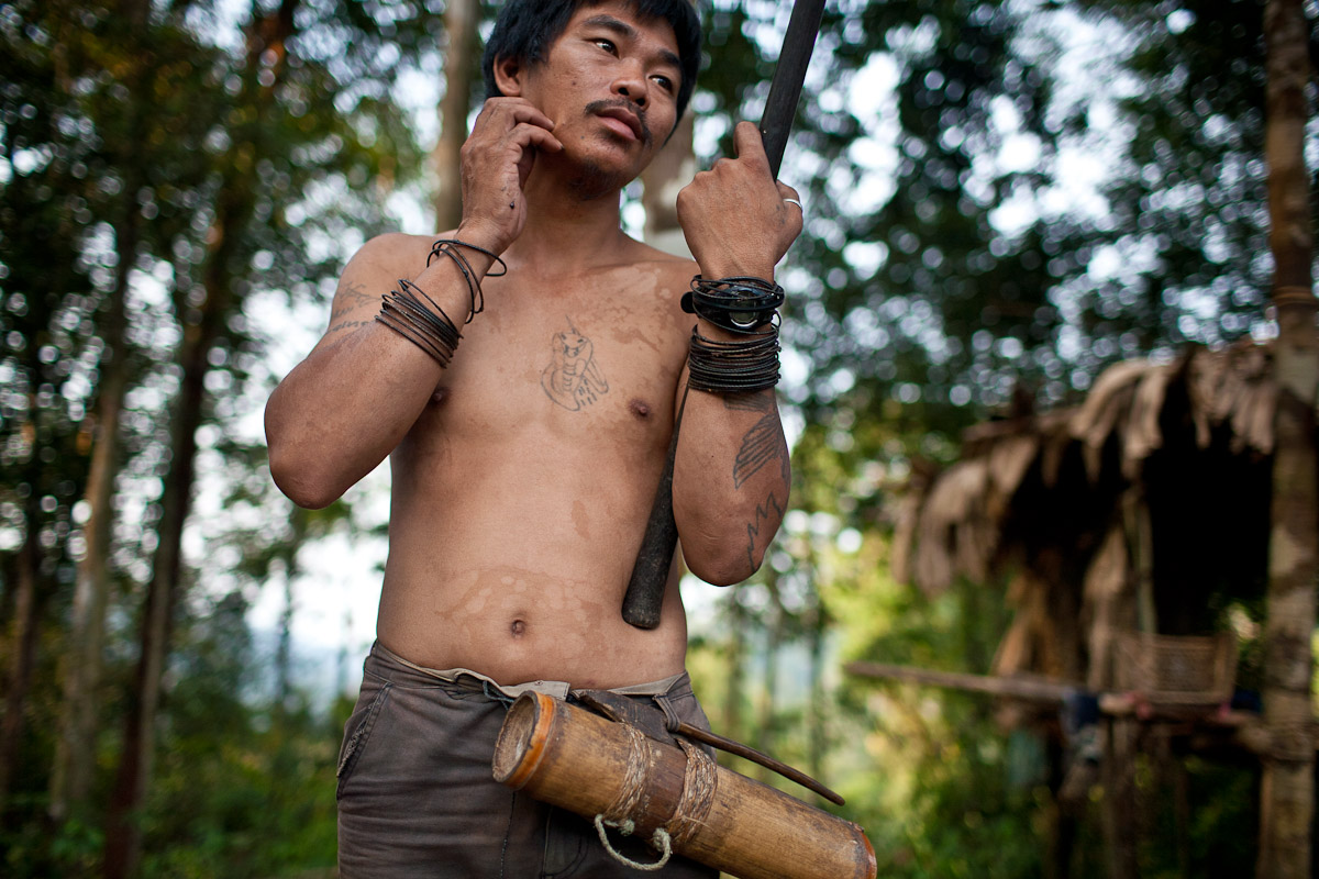 Bapa Sagung is the head man of a nomadic Penan community and recently left the jungle for the first time in his life to share the plight of the Penan with environmental groups from around the world.