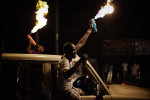 All through the night Young South Sudanese celebrate their 2nd independence anniversary on the streets of Juba.