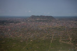 A view of Juba from a plane coming in to land at the airport.