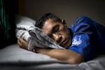 Postulant Santiago de Jesus Quintao takes a siesta break.