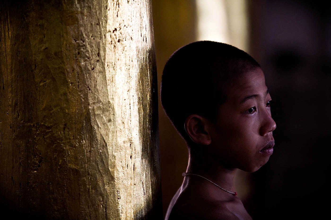 Novice Monk, Thain Inn Village.