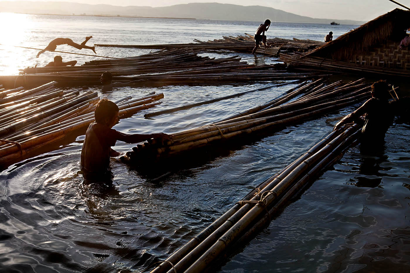 Bamboo Harvesters, Mandalay Harbor.