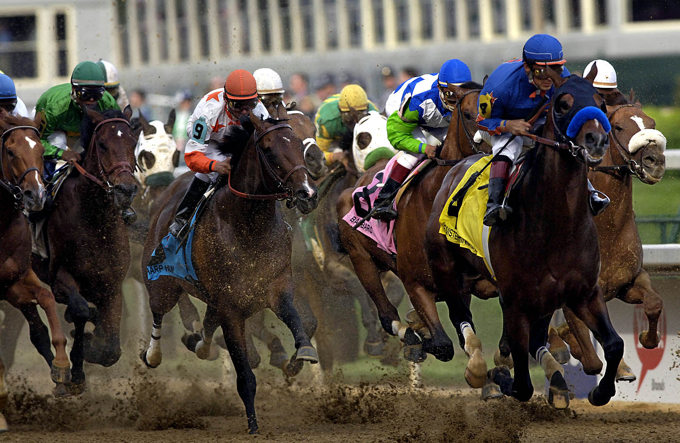 Following a stumble at the opening gate, undefeated Barbaro managed to fight his way back into a runaway victory at the running of the 132nd Kentucky Derby on May 6, 2006.  Peruvian born jockey Edgar Prado marks his seventh derby appearance and first victory.