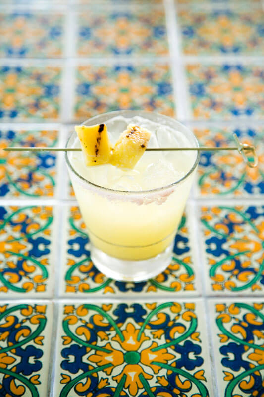 Class cocktail photographed by Dennis Burnett for website and menu photography at a local Austin restaurant