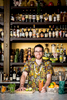 On location portrait photography of restaurant bartender.
