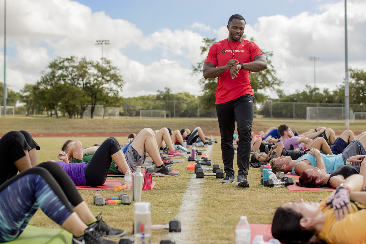 Fitness Boot Camp Photography by Austin based photographer Dennis Burnett