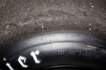 Photography detail of Racing Tire during Vintage Race at Circut of America's track located in Austin, TX.