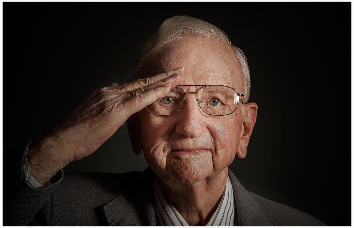 Photographer Dennis Burnett, located in Austin, TX, takes portraits of WWII veterans.