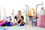 Fashion Student at SCAD learning in classroom