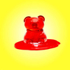 A gummy bear melts in less than 15 minutes after being left on the dashboard of car in Austin, Texas.