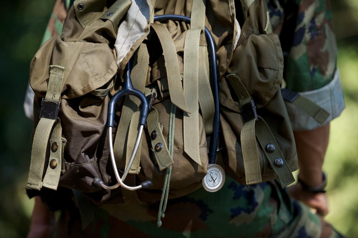 Detail of a medical kit.