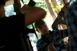 Free Burma Ranger staff and security check and inspect weapons and receive weapon handling training.