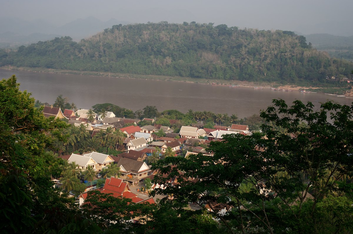 The pennisula of Luang Prabang, a UNESCO World Heritage Site, sits on the banks of the MeKong River.