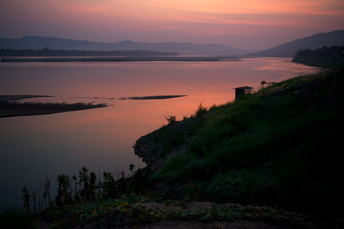 Sunrise on the Mekong River.