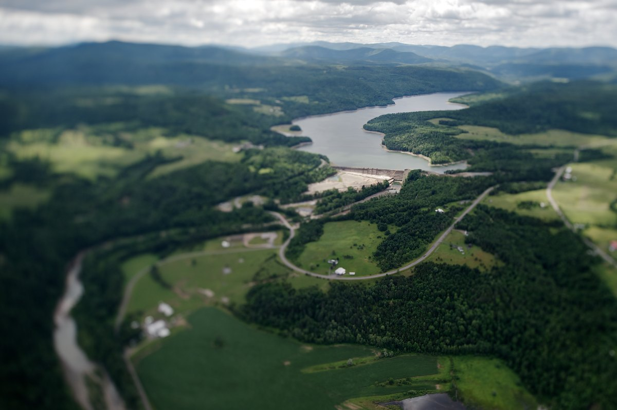 The dam and spillway at the Schoharie Reservoir.  The dam is currently under construction, adding an additional 4 feet to the height of the crest wall, to help further mitigate flooding (up to the 25-year storm) for downstream property owners and communities. The Schoharie holds 17.6 billion gallons at full capacity. Placed into service in 1926.