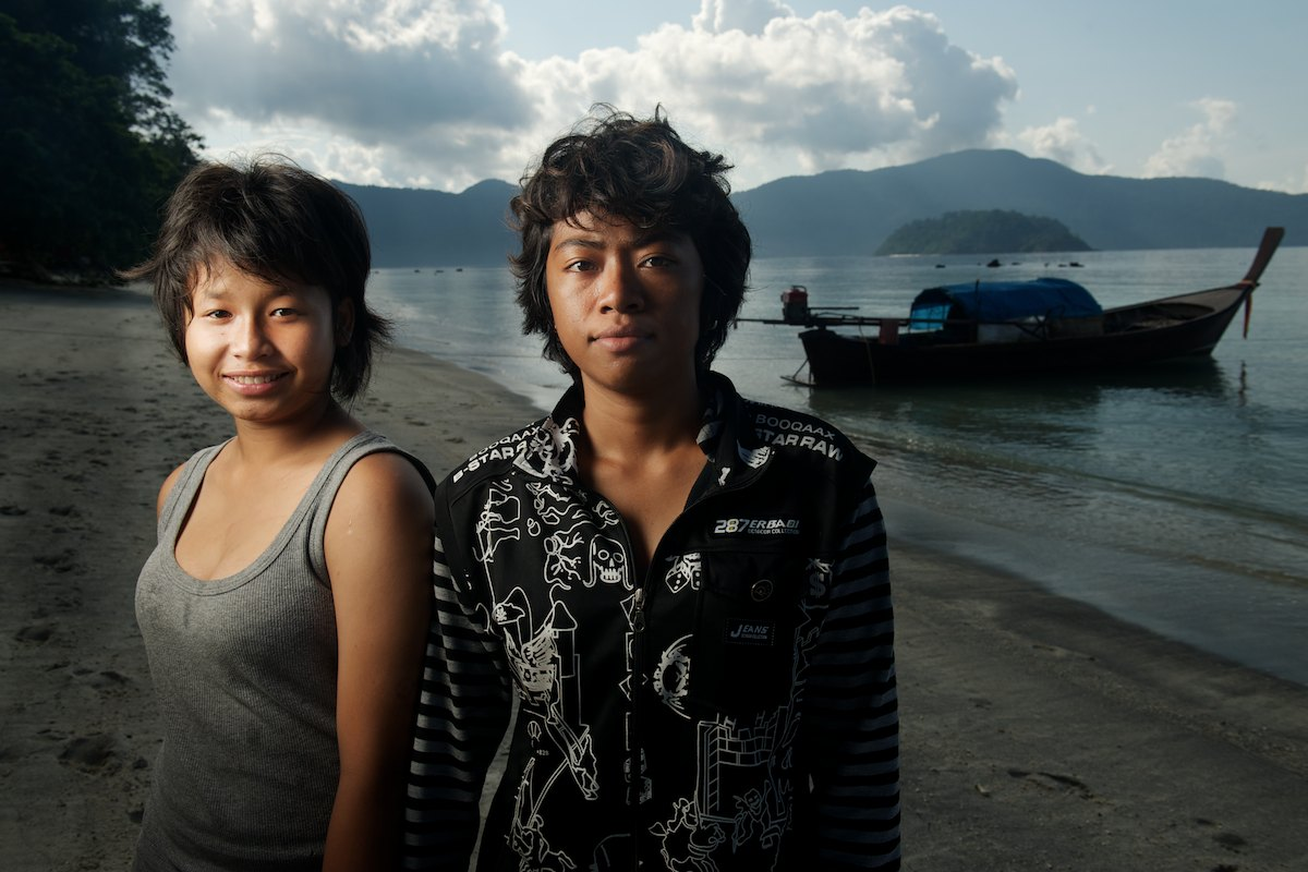 A portrait of a young Urak Lawoi' couple on Koh Rawi.