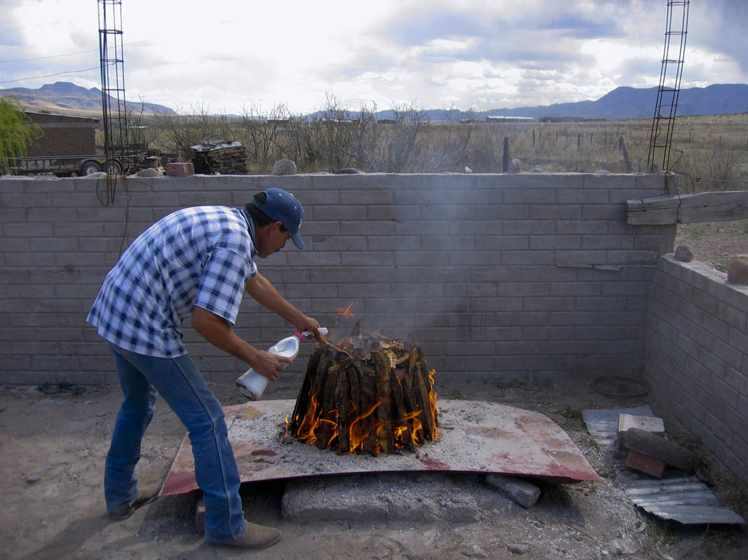 The firing of pottery in Mata Ortiz