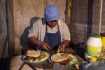 Leonel Quezada prepares a dish!  Yum!!!
