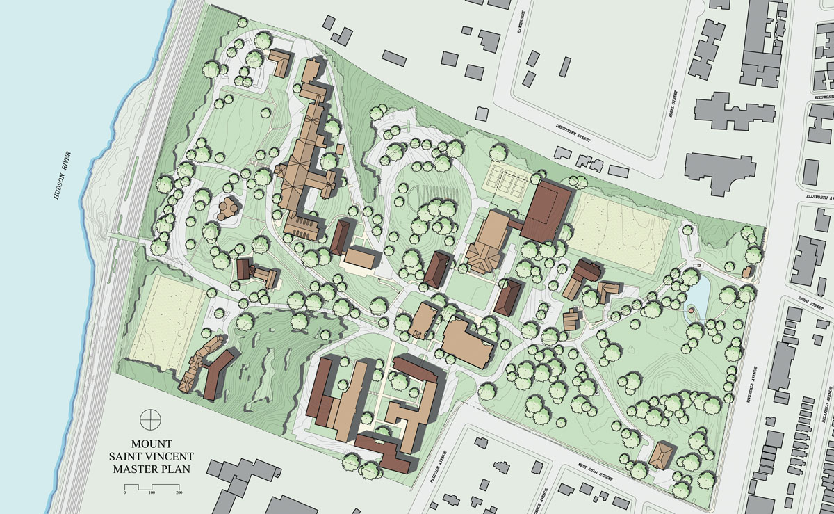 The new campus master plan