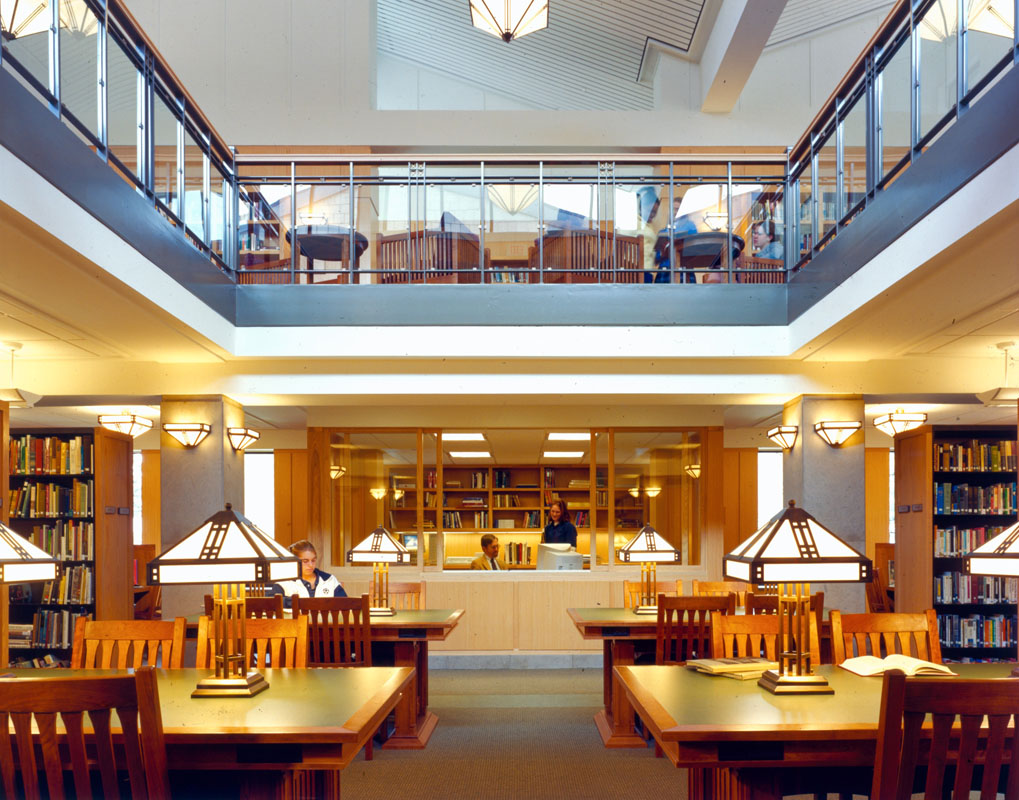 Lower level reading room