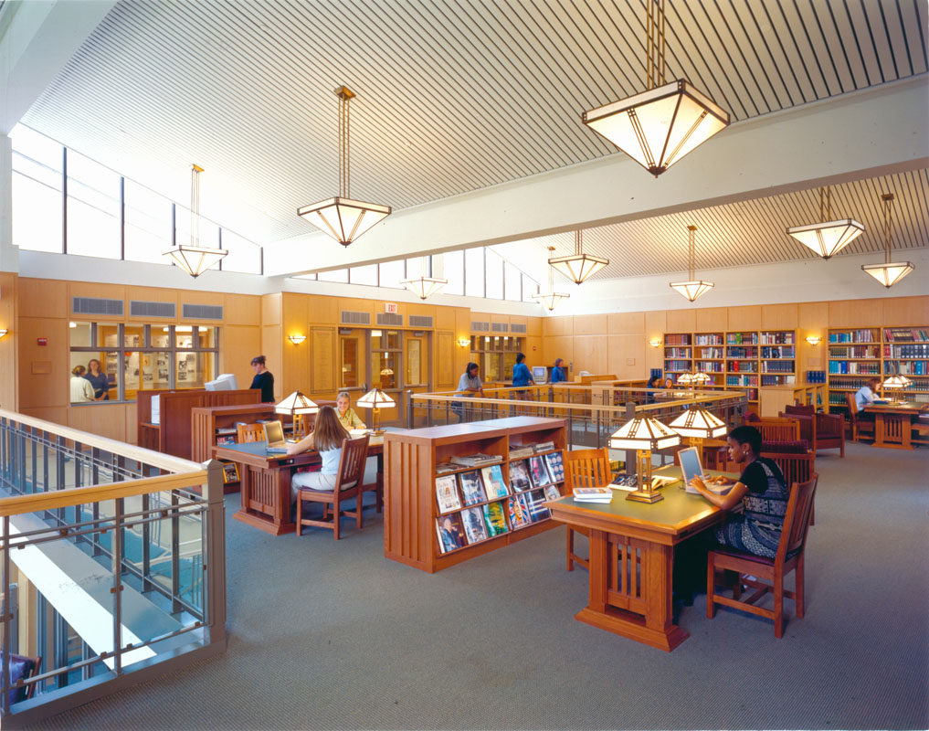 Upper level reading room