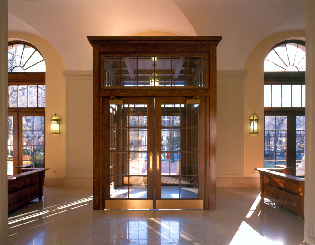 Barnard Hall entry vestibule