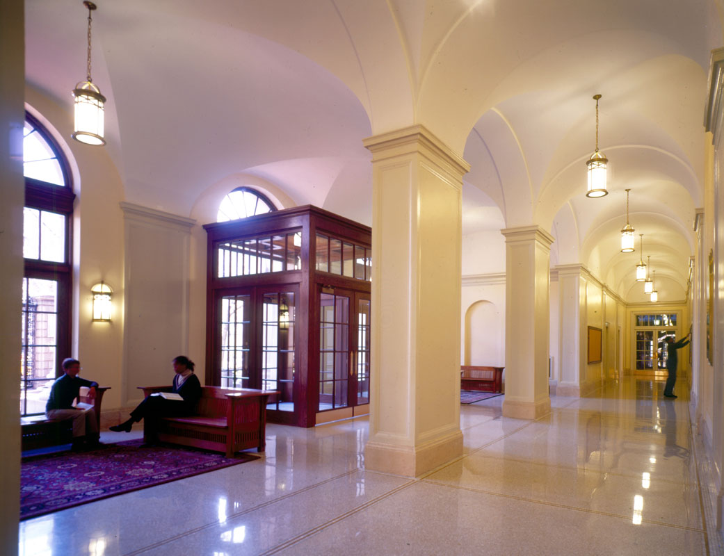 Restored Barnard Hall lobby