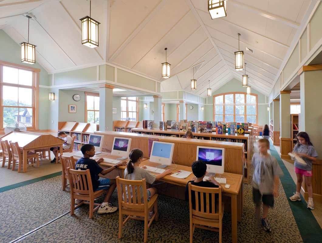 The new Lower School library