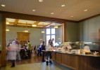 The new servery connects the Saperstein Middle School dining room and the Upper School dining room