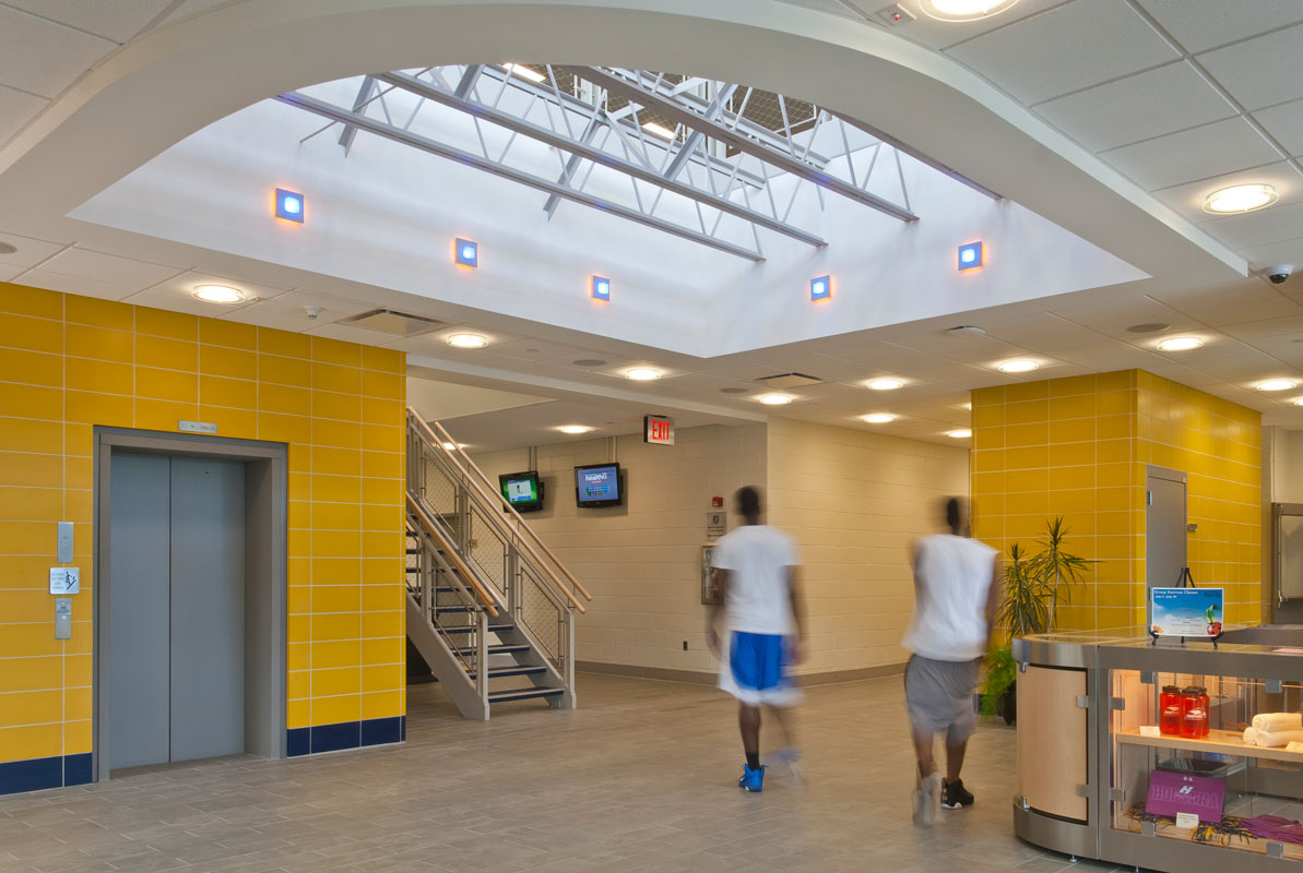 New lobby to the Recreation Center