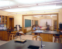 Typical science classroom with separate lab and recitation areas