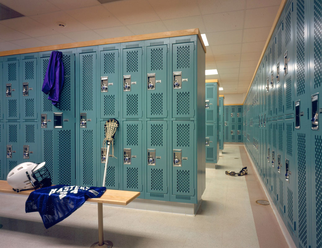 Renovated locker room