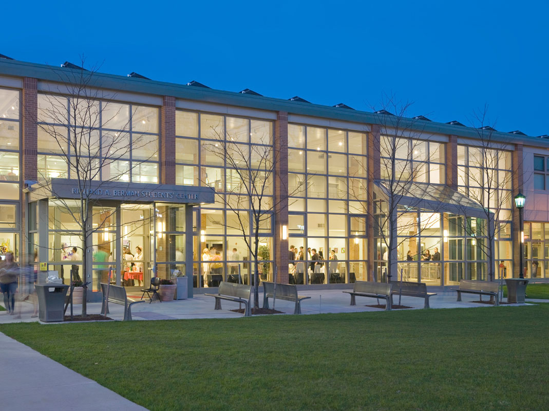 The New Sudent Center at Night