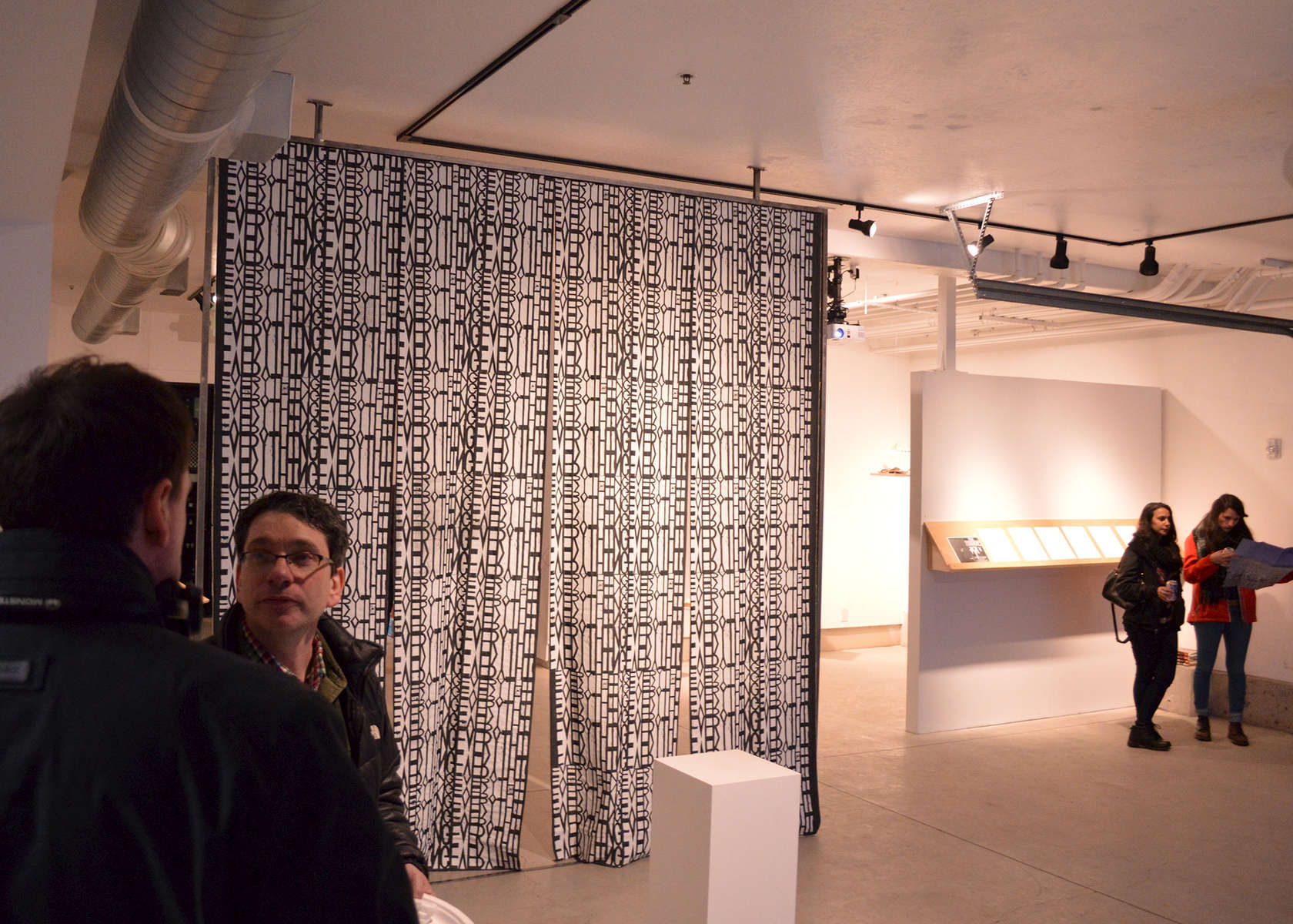 screen printed fabric, steel frame, 2016