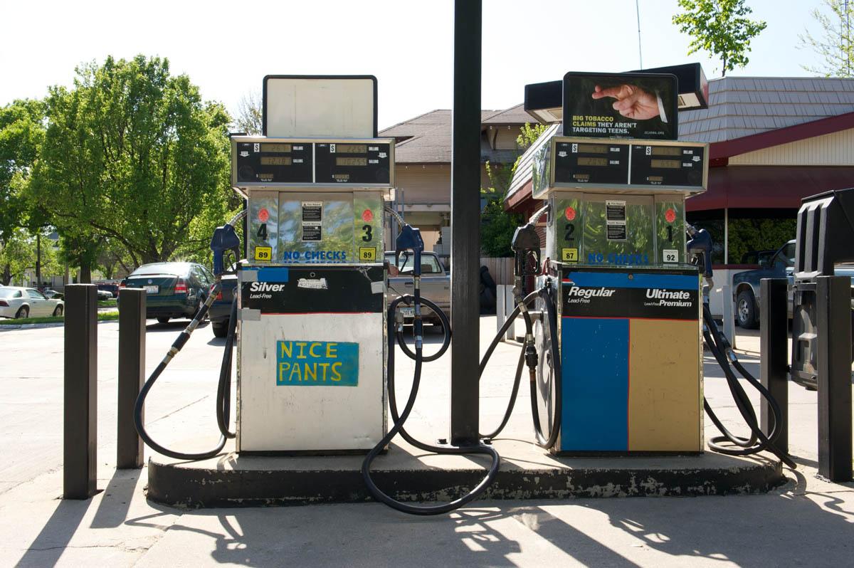 gas station - Iowa Cityacrylic on paper2009