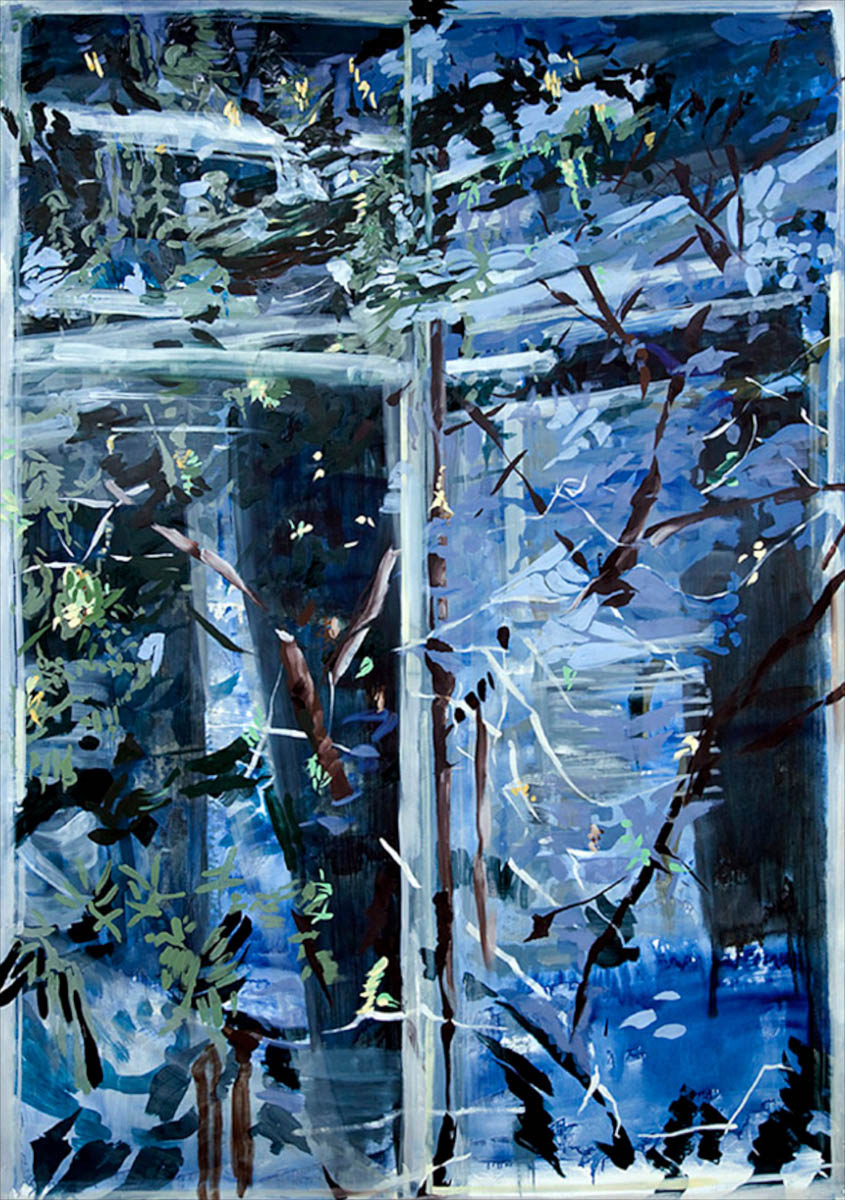 oil on paper87 x 60in., 2008