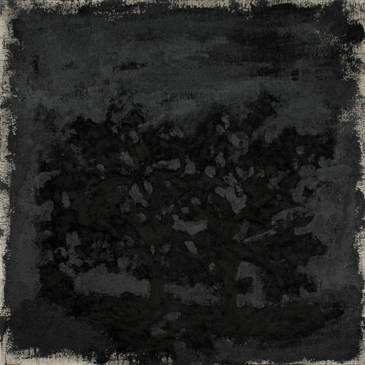 oil, charcoal and graphite on linen16 x 16in., 2009