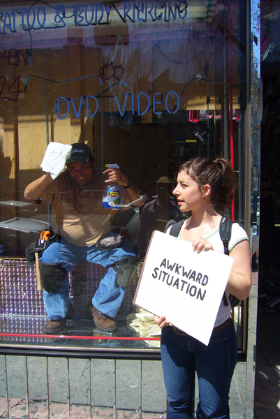 "Signs for MyselfCollaboration with Steve Lambert  ""Crazy Fantasy Video"", W. 4th st, NYC2006"